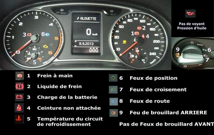 Tableau de bord Audi A1
